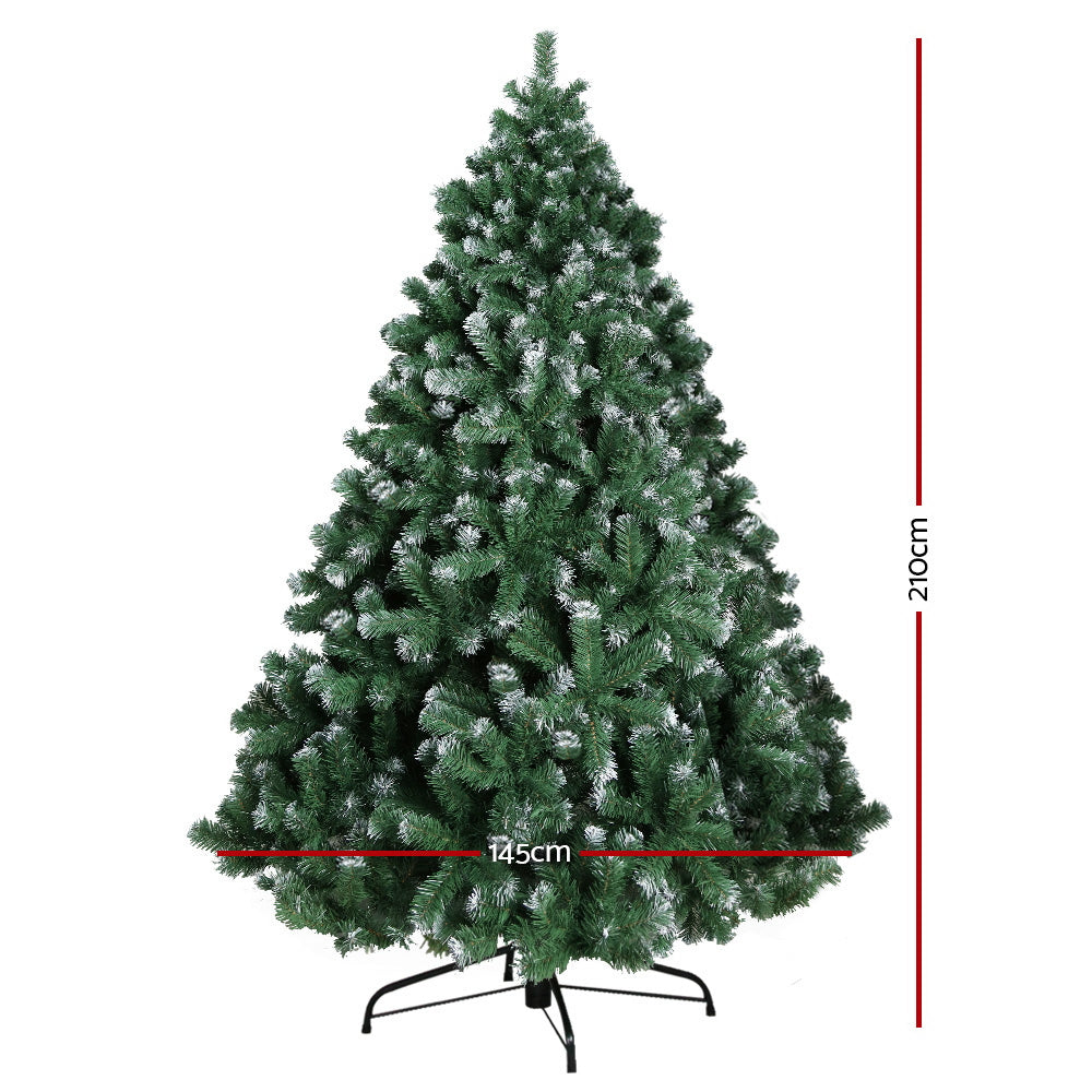 Jingle Jollys 7FT Christmas Snow Tree