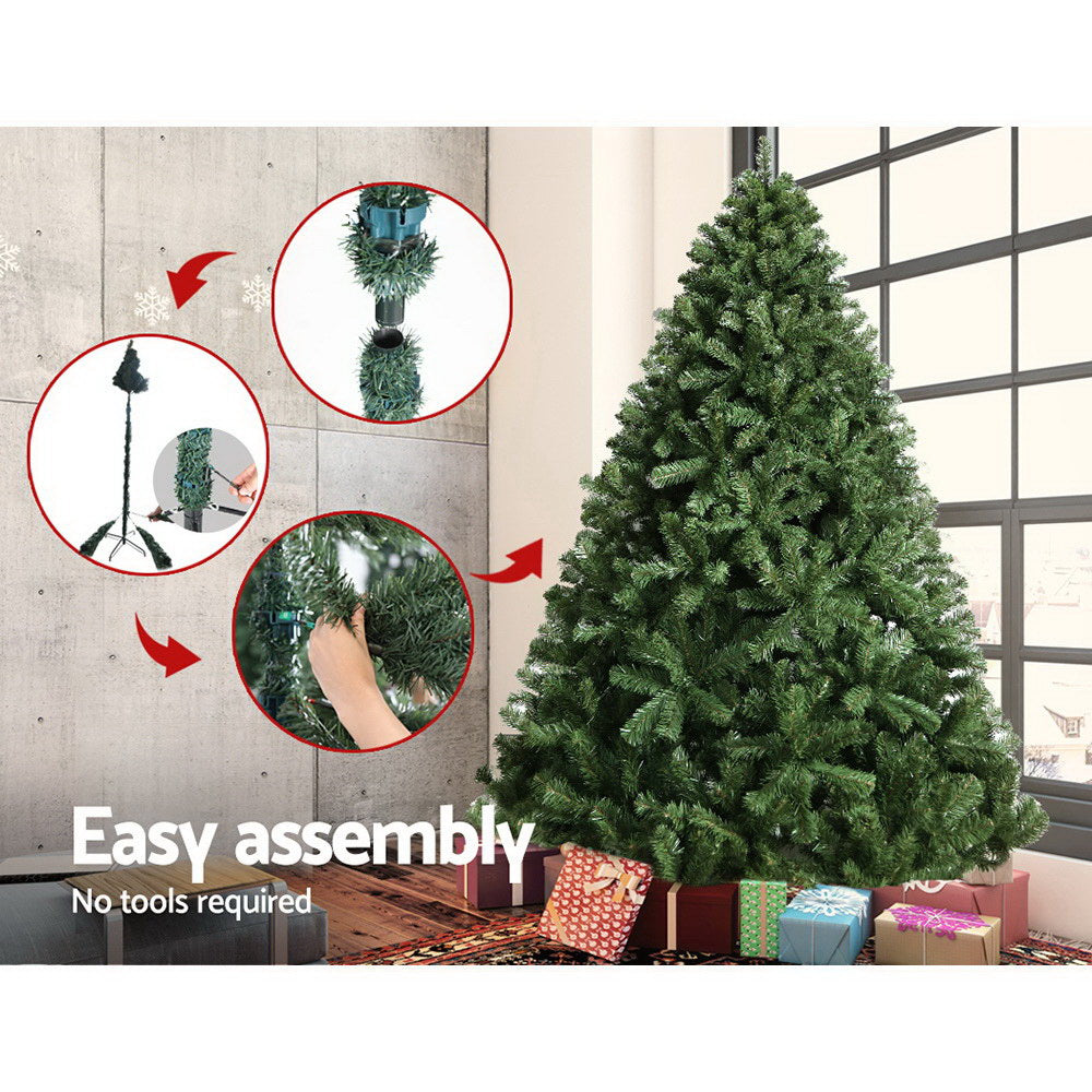 Jingle Jollys 2.4M 8FT Christmas Tree Xmas Decoration Home Decor 1500 Tips Green