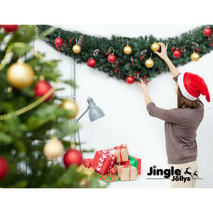 Jingle Jollys Christmas Garland 2.4M Xmas Wreath Decoration Home Decor