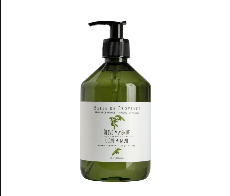 Belle de Provence Olive Oil & Mint Liquid Soap 500ml