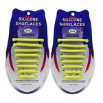 3221015 VET siliconen schoenveters - Lazy Shoe Laces ™Geel