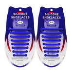 3221015 VET siliconen schoenveters - Lazy Shoe Laces ™Blauw