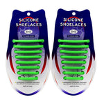 3221015 VET siliconen schoenveters - Lazy Shoe Laces ™Groen