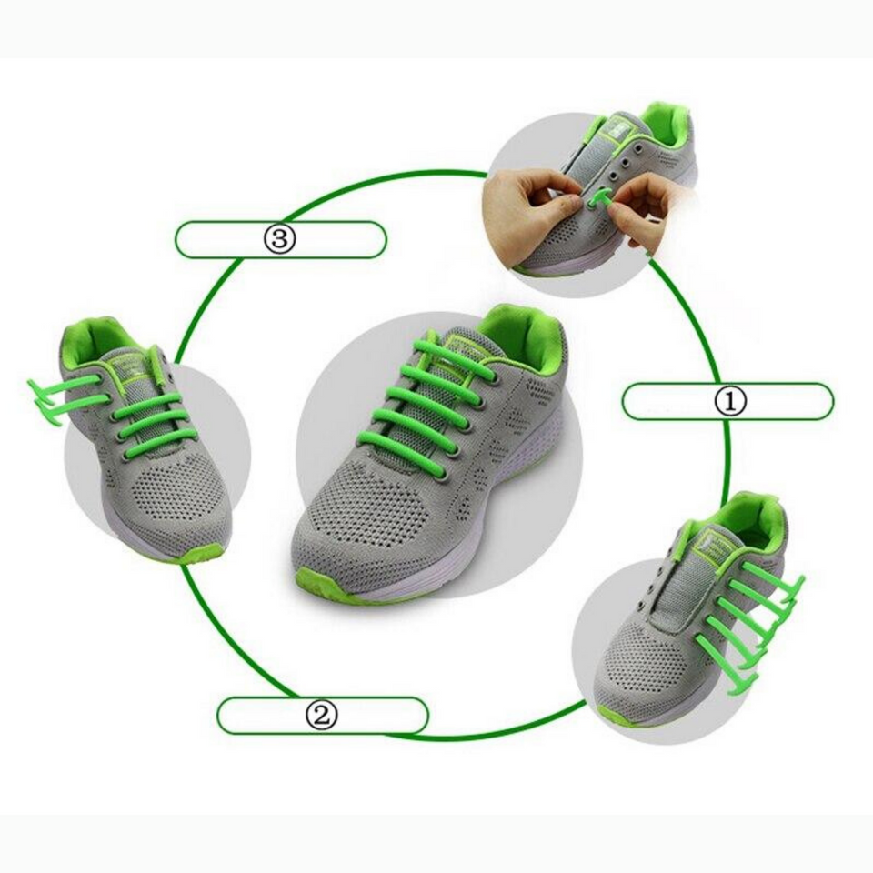 No Tie Semi-circle Silicone Shoelaces