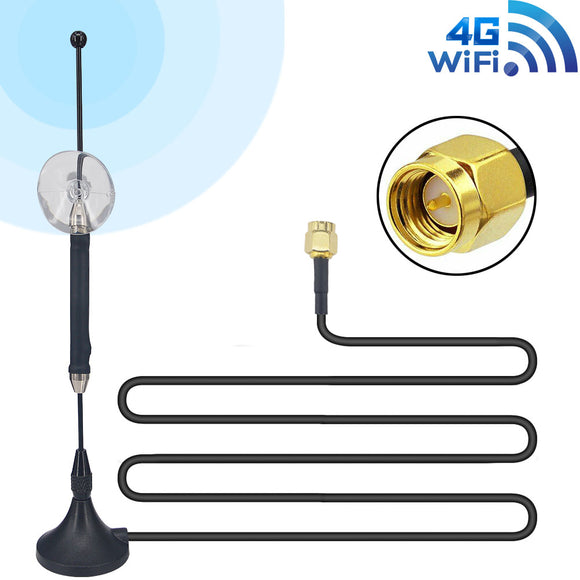10dbi 4G LTE SMA Antenna Male Huawei Magnetic 9.84ft RG174 3M