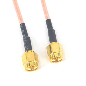 50 Pieces Extension SMA RG316 Cable SMA Male to Plug Connector Adapter SMA Pigtail Cable Coaxial Cable 10CM,15CM,20CM, 1M,2M,3M