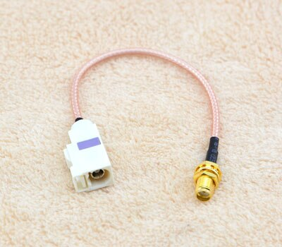 1 Piece GPS Antenna Extension Cable Fakra B Jack Female to SMA Female Jack Pigtail Cable RG316 15CM