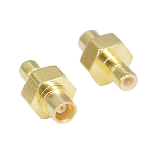 2 Pieces SMB- MCX RF Adapter SMB to MCX Kit SMB to MCX Male Female RF Coax Connector Adapter