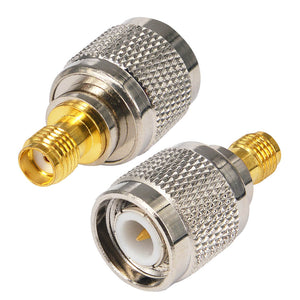 2 Pieces TNC to SMA adapter TNC Male to sma Female Converter RF Straight Coaxial Cable Connector