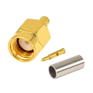 5 PCS RF Coaxial Connector Crimp SMA male female Connector for Cables