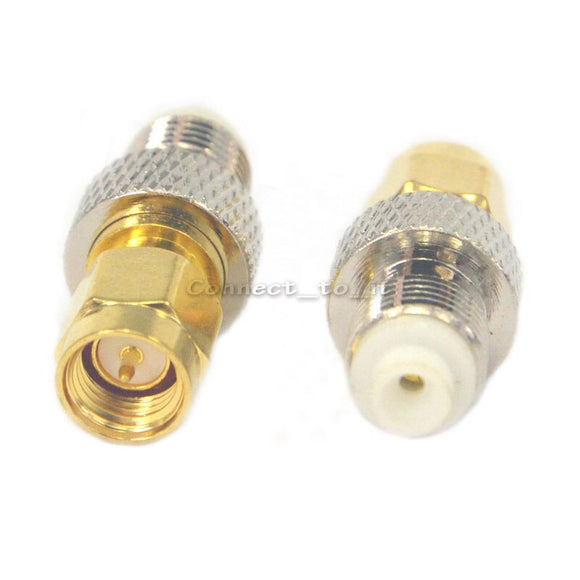 2 Pieces SMA Male Plug to FME Female Jack Adapter  Straight RF Coax Adapter Convertor