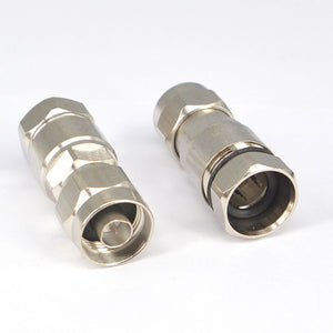 2 Pieces N Type Male Coaxial Connector for 1/2 Radio Frequency Wireless Communication Cable