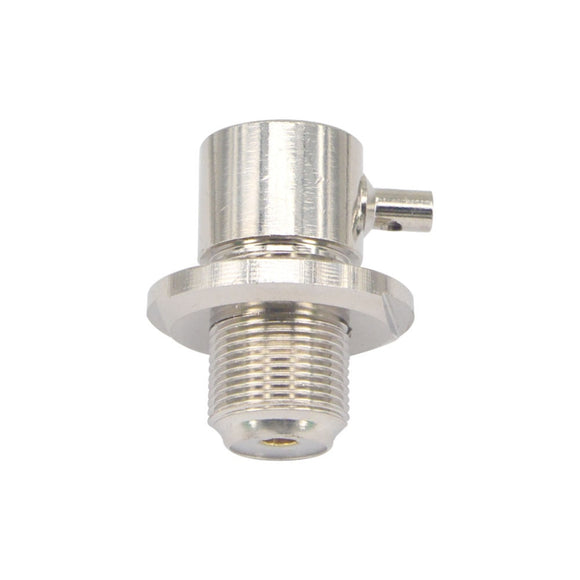 UHF female SO239 bulkhead for radio solder RG316 RG174 LMR100 right angle Connector RF Coaxial Adapter