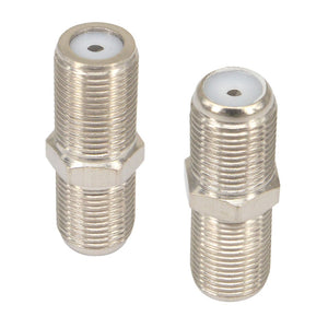10 Pieces  F female to F female jack socket Connector for Connecting TV satellite receiver VCR cable modem off-air antenna