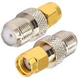 1 Piece Adapter Connector FME F TV to  TV / FME / IEC / MCX / SMA / RCA TV / RP-SMA RPSMA Male Plug & Female Jack RF Coaxial