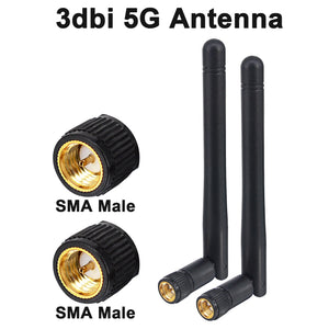 2PCS/lot 5GHz 3dBi WiFi 5g Antenna Aerial SMA Male Adapter wireless router 11cm