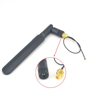 Antenna wifi 2.4g / 5.8ghz Omni dual-band  5dbi Aerial SMA male+SMA female bulkhead to Ufl./IPX 1.13 Pigtail Cable15cm