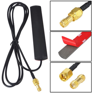 2dbi - 3dbi gsm 824-960Mhz 1710-1990Mhz GSM antenna SMA plug male connector Aerial 1.5M + SMA female to SMA female