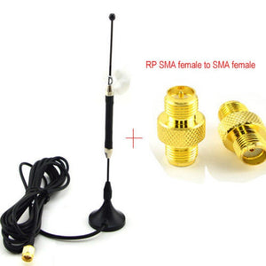 4G Antenna Omnidirectional 10dbi LTE Aerial SMA Magnetic for 4G lte FDD/TDD Router Modem+RP-SMA Female to SMA Female Adapter
