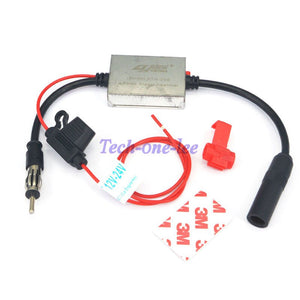 12V-24V With Power Supply System FM Signal Amplifier 88-108 Mhz Car FM Radio Antenna Radio Amplifier Booster