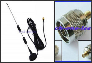 2 piece/lot 5dbi 4G Antenna LTE 698-960/1700-2700Mhz with magnetic base 3M Antena+ N - SMA adapter N plug male to SMA female