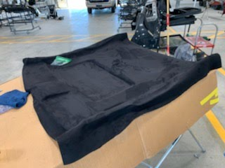 07 Civic SI Coupe Headliner board Recovered in Black Stretch Suede