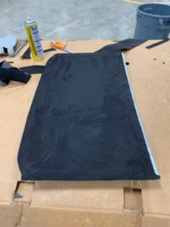 Jaymee Godinez 07 Civic SI Coupe Sunroof Shade Recovered in Black Stretch Suede