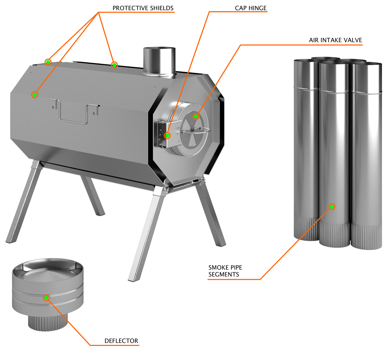 Universal Wood Stove Vector