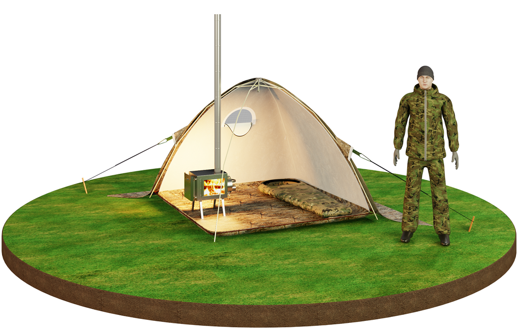"Bereg Universal two-layer Tent ""Sputnik-3"". Best for 1- 3 person."