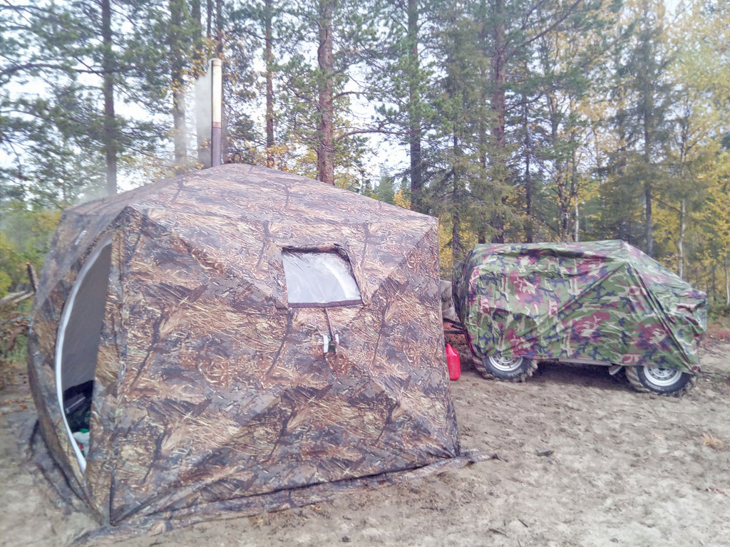 "All-Season Tent with Stove Jack ""Cuboid 2.20"". Best tent for 1-3 person."