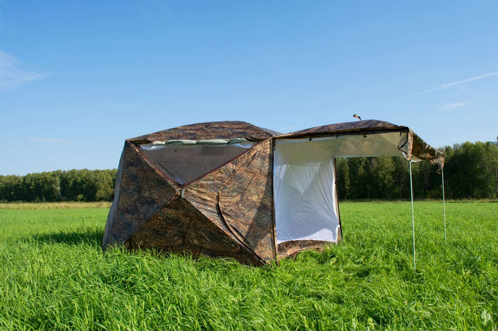"All-Season Premium Outfitter Wall Tent with Stove Jack ""Pentagon"". Best for 5 person."