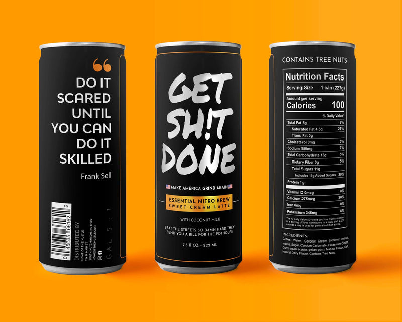 Get Sh!t Done Sweet Cream Nitro Latte 12 or 18 cans