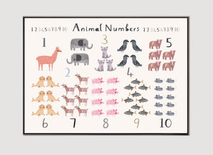 New Animal Number Print - Landscape Format