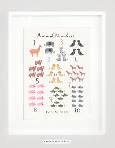Animal Counting Print - Portrait