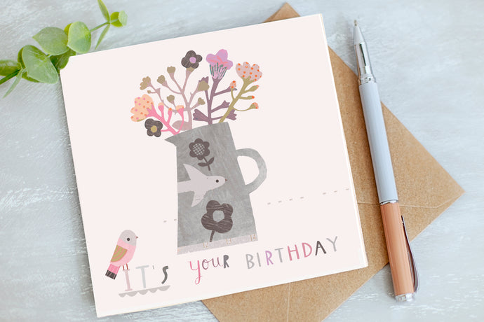 It's your Birthday - Flowers Birthday Card