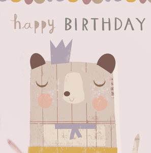 Children's Birthday Card - Kids Birthday Cards - Bear Birthday Card