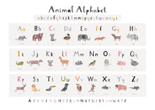 Load image into Gallery viewer, New Animal Alphabet Nursery Print - Landscape