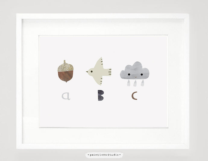 ABC Print - Nursery Art - Landscape