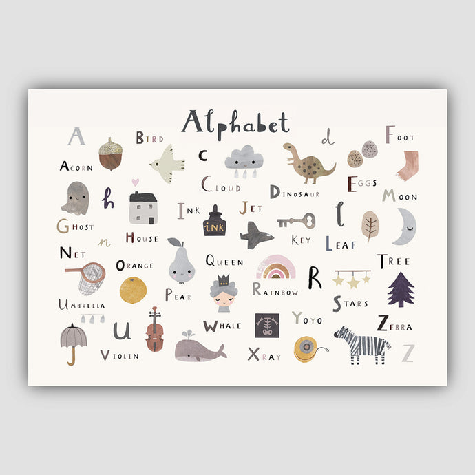 Digital Download -Alphabet Print - Landscape Format