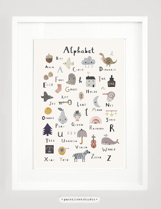Alphabet Print Nursery Decor