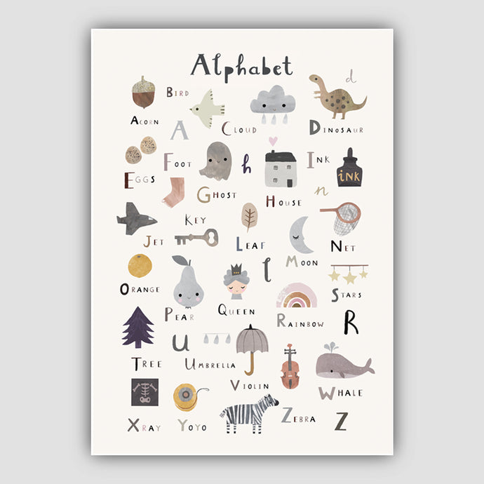 Digital Download Alphabet Print - Portrait Format