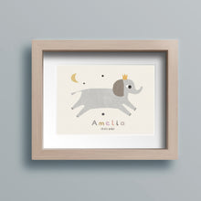 Load image into Gallery viewer, Personalised elephant nursery print