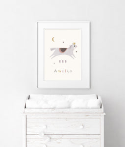 Personalised horse print - portrait