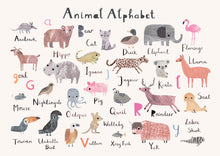 Load image into Gallery viewer, Animal Alphabet Nursery Print - Landscape Format