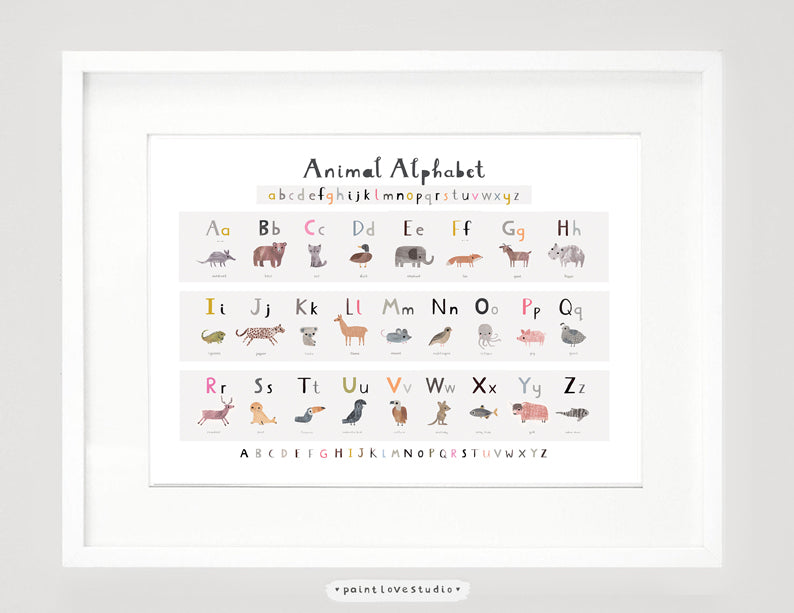 New Animal Alphabet Print - Landscape
