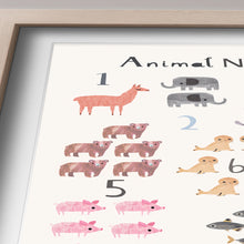 Load image into Gallery viewer, Animal Counting Print - Portrait
