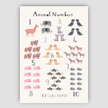 Load image into Gallery viewer, Digital Download - New Animal Number Print - Portrait Format