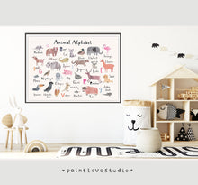 Load image into Gallery viewer, Animal Alphabet Print - Landscape