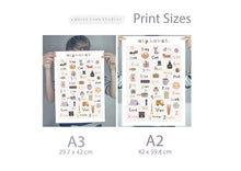Load image into Gallery viewer, Baby Alphabet Nursery Print - Portrait Format