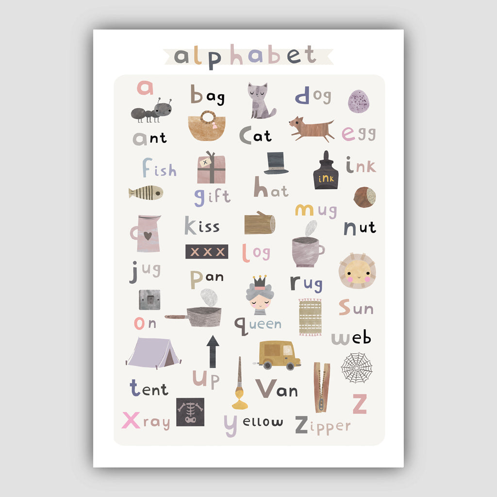 Digital Download Baby Alphabet Print - Portrait Format